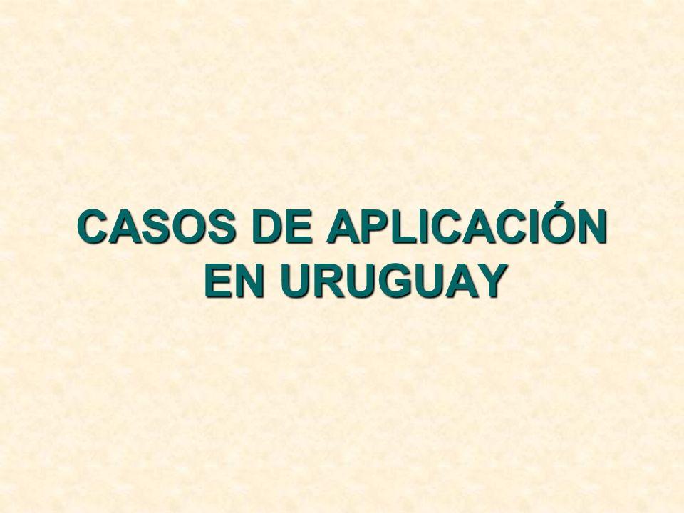 CASOS DE APLICACIÓN EN URUGUAY