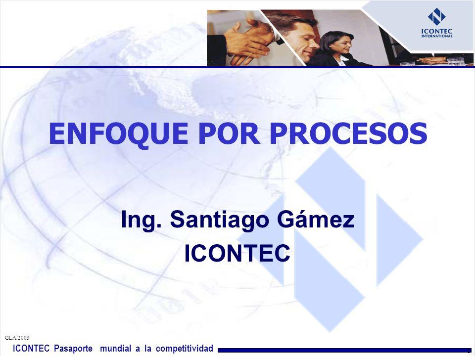 ICONTEC Pasaporte mundial a la competitividad GLA/2003 11 IDENTIFICACION, SECUENCIA, INTERACCION CRITERIOS Y METODOS ( 4.1 a,b,c) IMPLEMENTACION DE LA PLANIFICACION ( 4.1 d) MONITOREO, MEDICIÓN Y ANALISIS ( 4.1 e) IMPLEMENTACIÓN DEL MEJORAMIENTO (4.1f) P A V H ISO 9001:2000 numeral 4.1