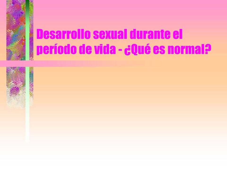 Desarrollo sexual durante el período de vida - ¿Qué es normal?