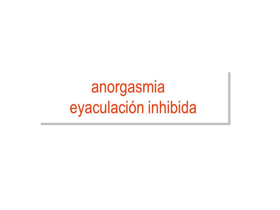 anorgasmia eyaculación inhibida
