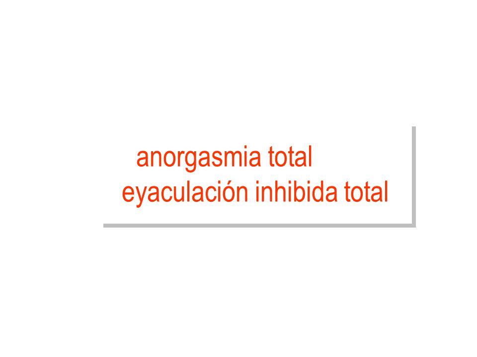 anorgasmia total eyaculación inhibida total