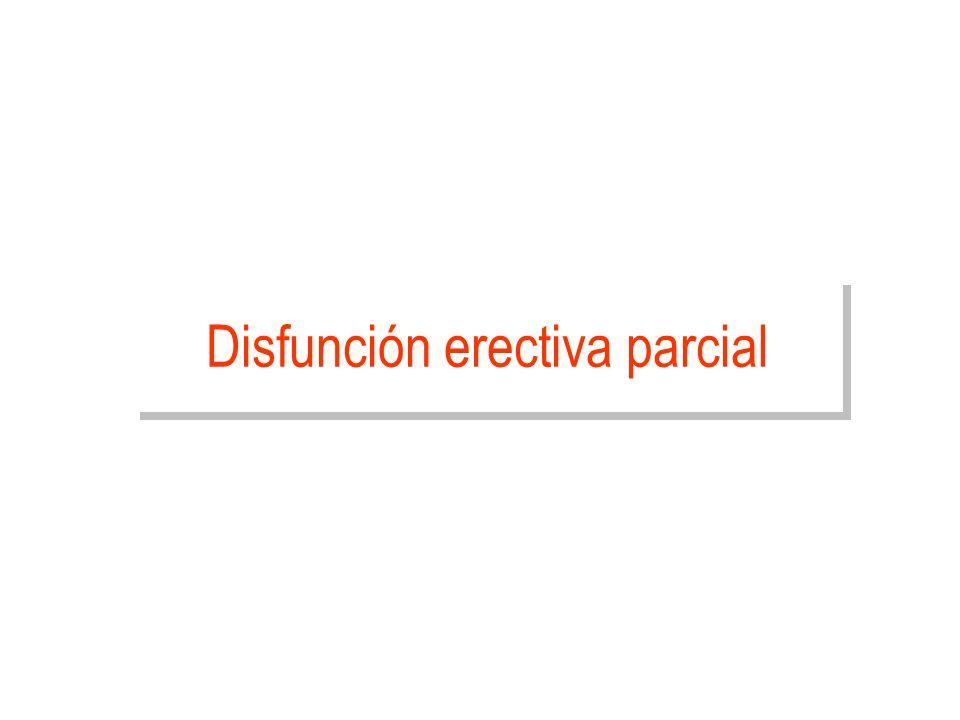 Disfunción erectiva parcial
