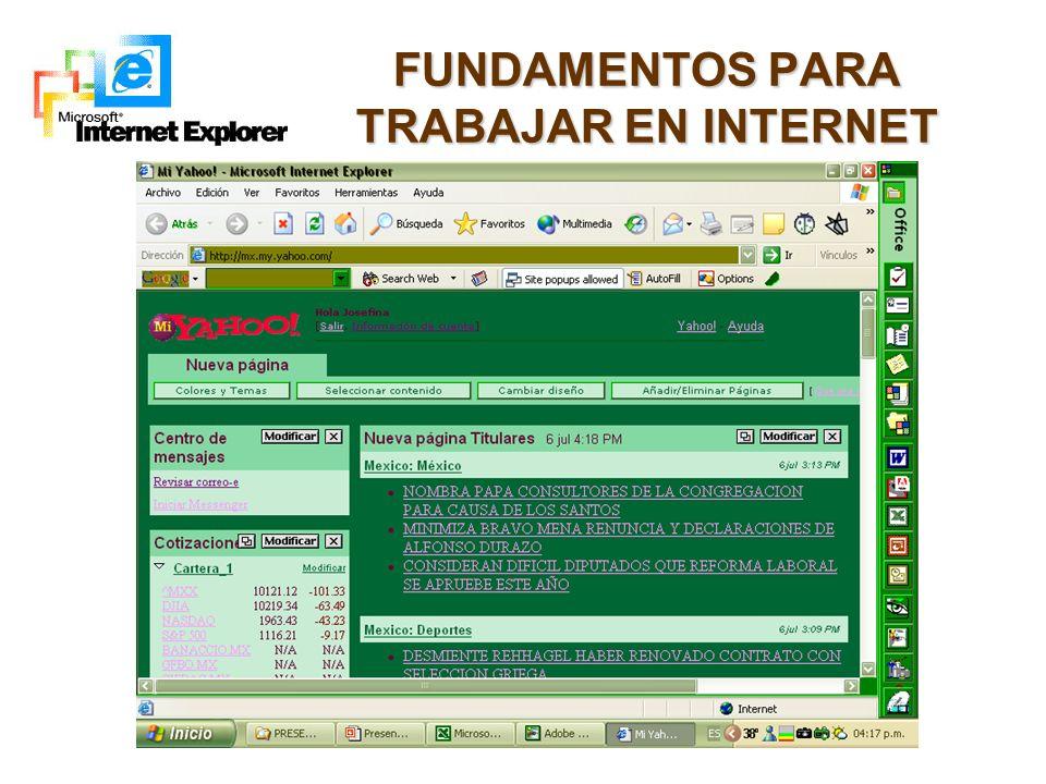 FUNDAMENTOS PARA TRABAJAR EN INTERNET