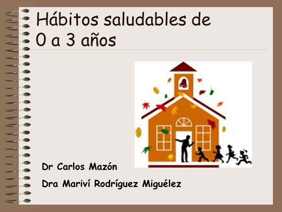 Hábitos saludables de 0 a 3 años Dr Carlos Mazón Dra Mariví Rodríguez Miguélez