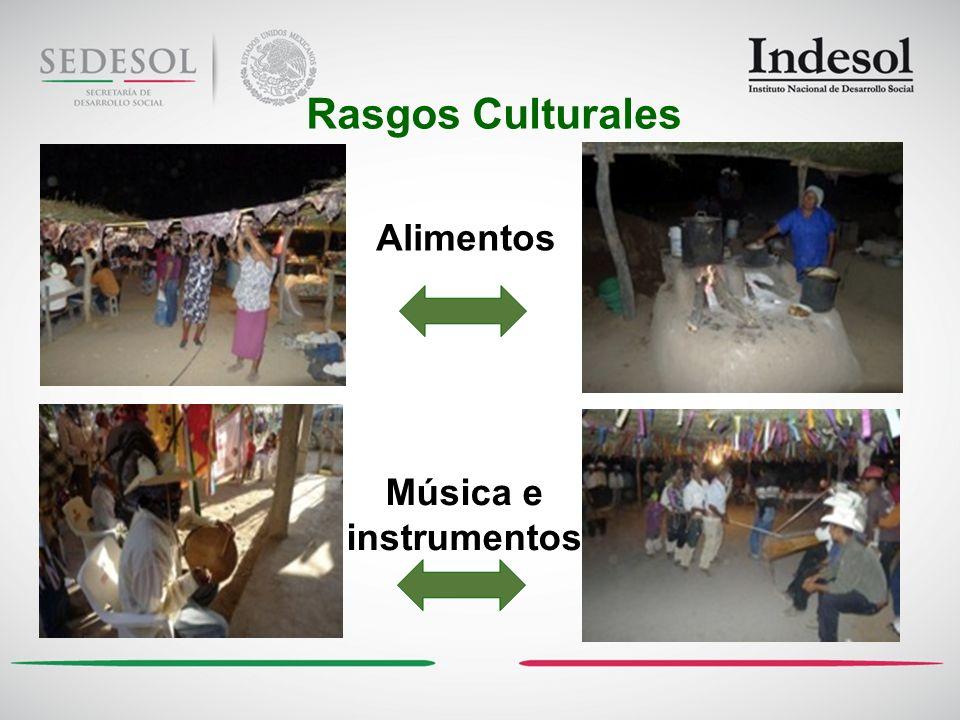 Rasgos Culturales Alimentos Música e instrumentos
