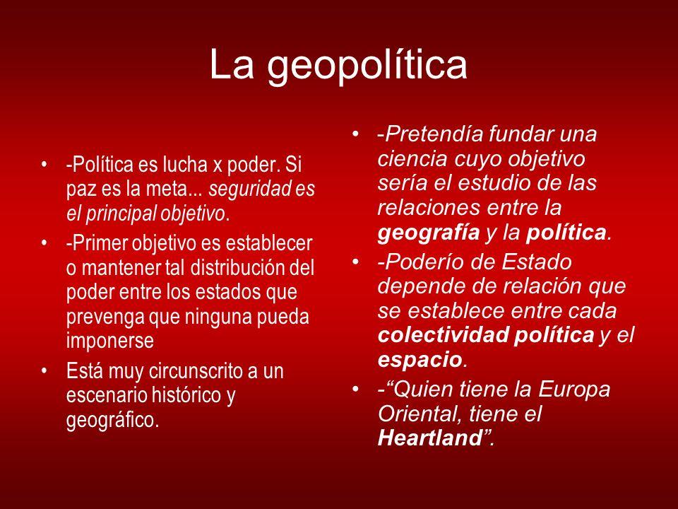 La geopolítica -Política es lucha x poder.Si paz es la meta...