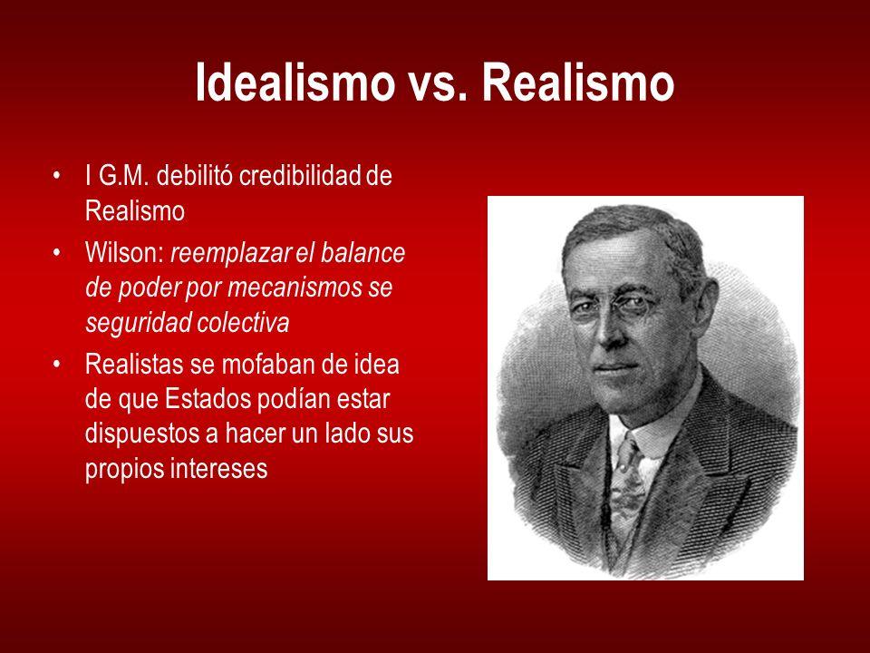 Idealismo vs.Realismo I G.M.