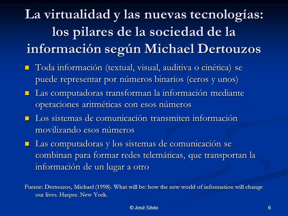 7© José Silvio ¿Qué es lo virtual y la virtualización.