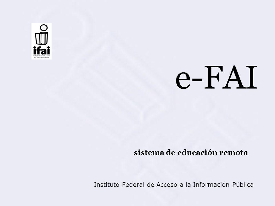 e-FAI sistema de educación remota Instituto Federal de Acceso a la Información Pública