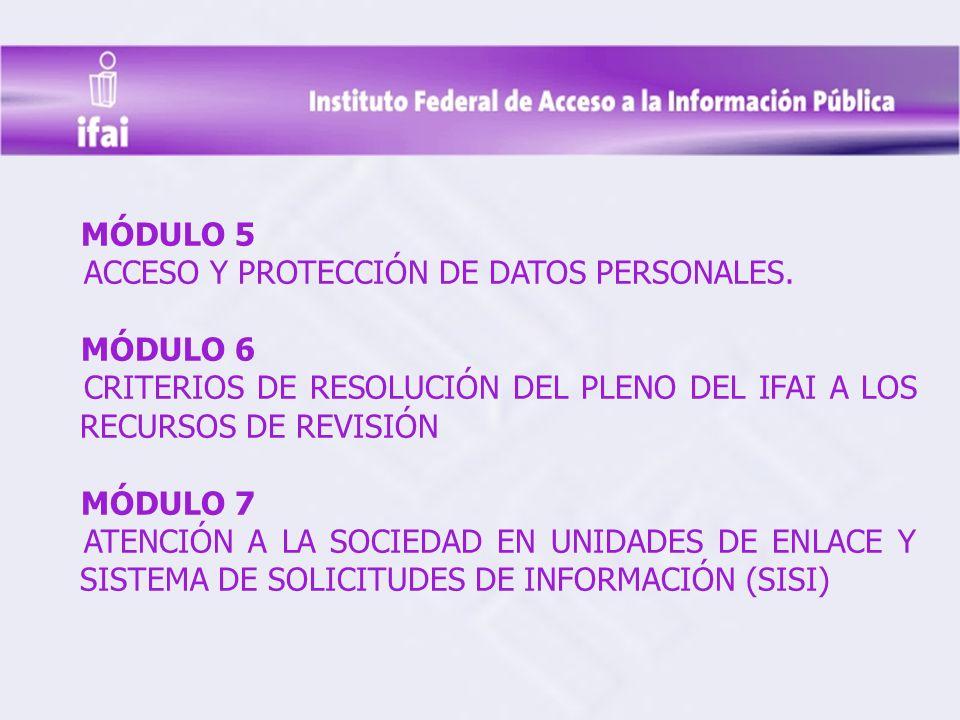 MÓDULO 5 ACCESO Y PROTECCIÓN DE DATOS PERSONALES.