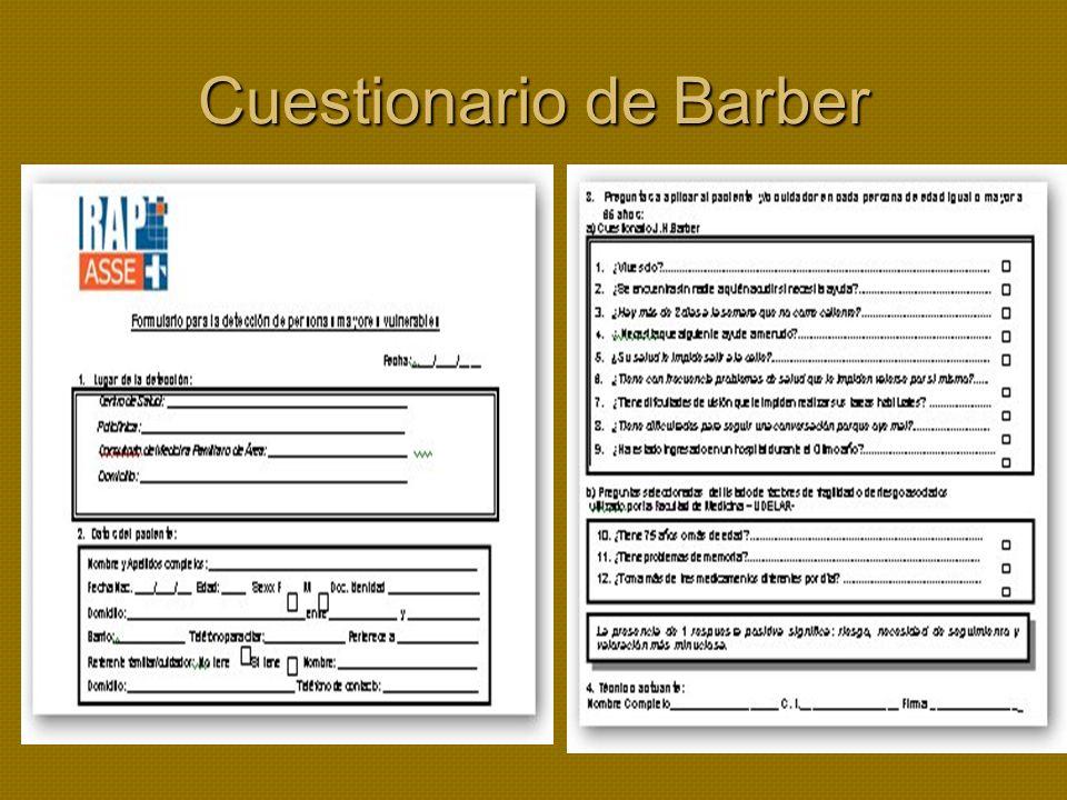 Cuestionario de Barber