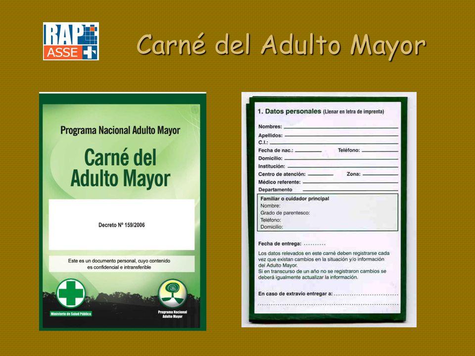 Carné del Adulto Mayor