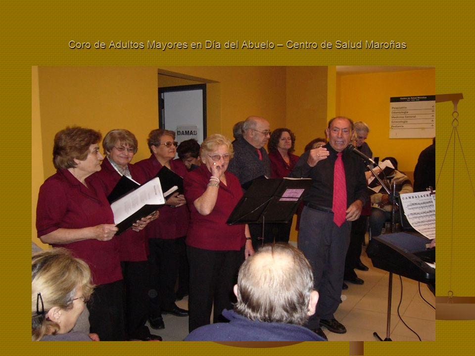 Coro de Adultos Mayores en Día del Abuelo – Centro de Salud Maroñas