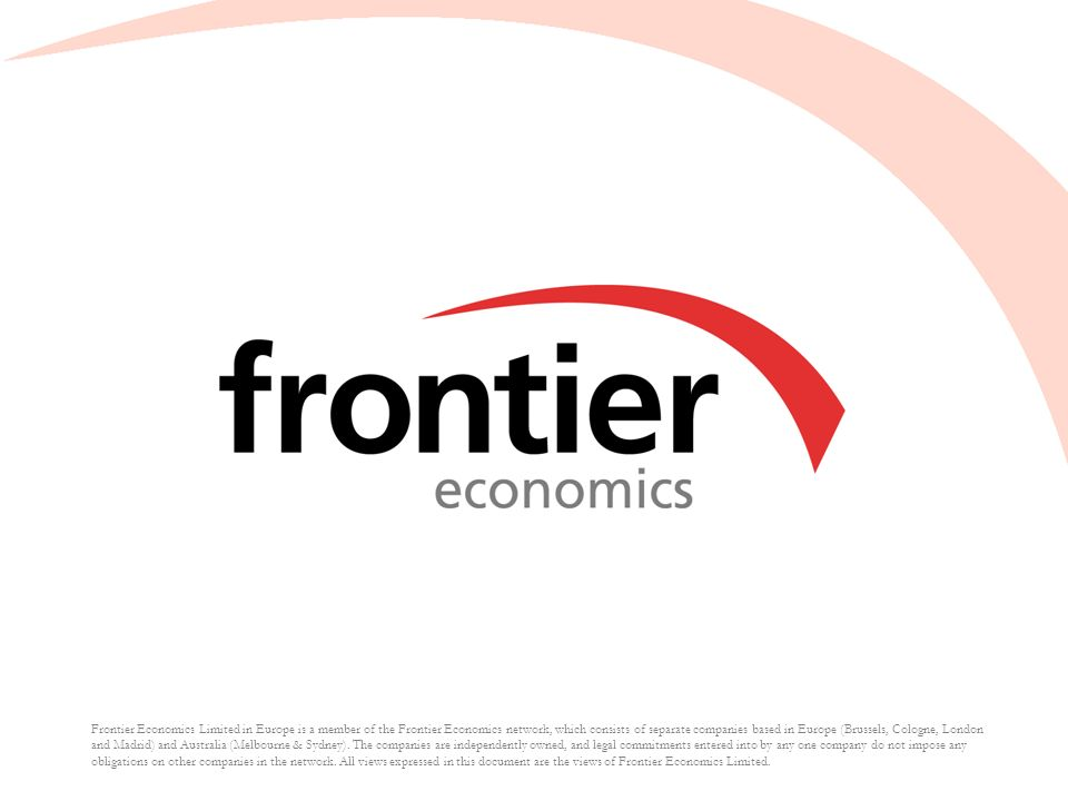 Frontier Economics Limited in Europe is a member of the Frontier Economics network, which consists of separate companies based in Europe (Brussels, Co