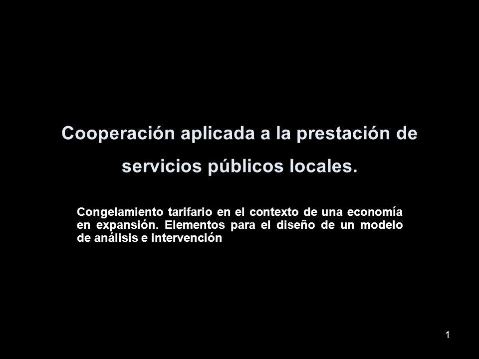 1 Cooperación aplicada a la prestación de servicios públicos locales.
