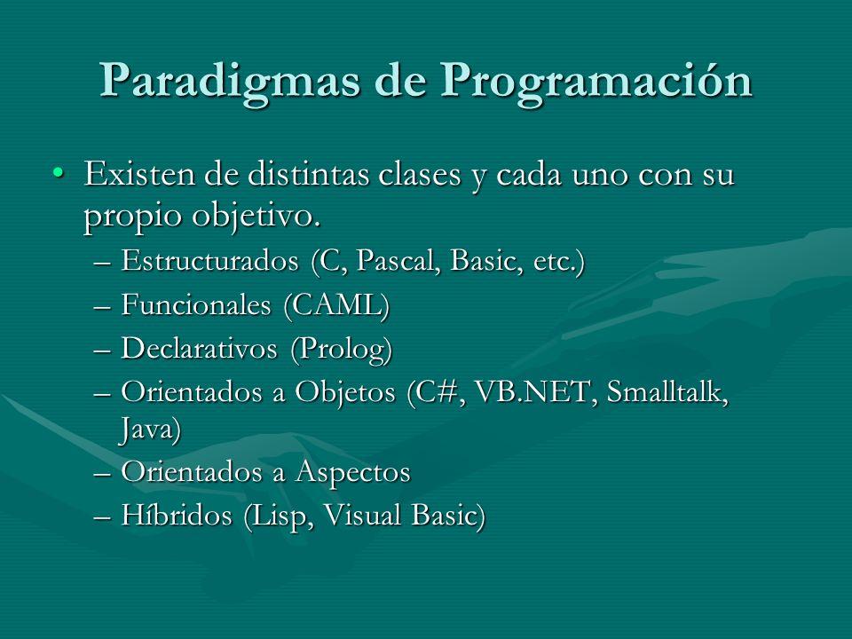 Paradigmas de Programación Existen de distintas clases y cada uno con su propio objetivo.Existen de distintas clases y cada uno con su propio objetivo