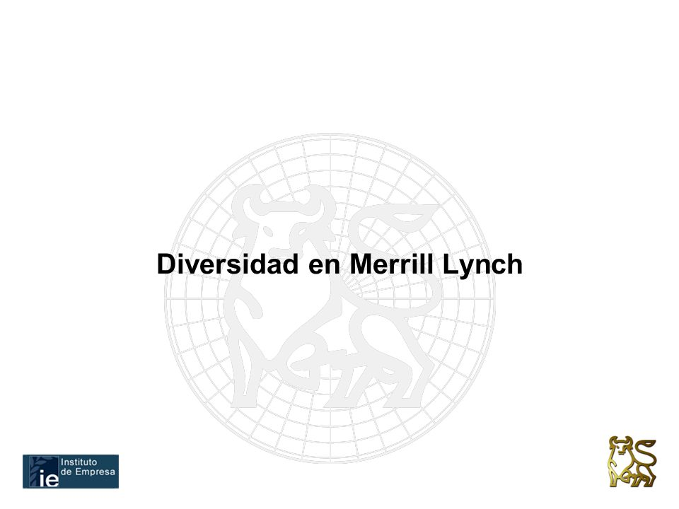 Diversidad en Merrill Lynch