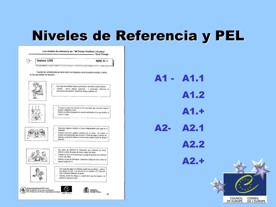 Niveles de Referencia y PEL A1 -A1.1 A1.2 A1.+ A2-A2.1 A2.2 A2.+