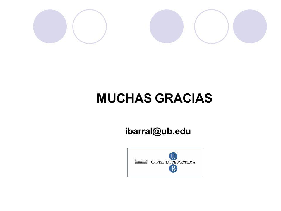 MUCHAS GRACIAS ibarral@ub.edu