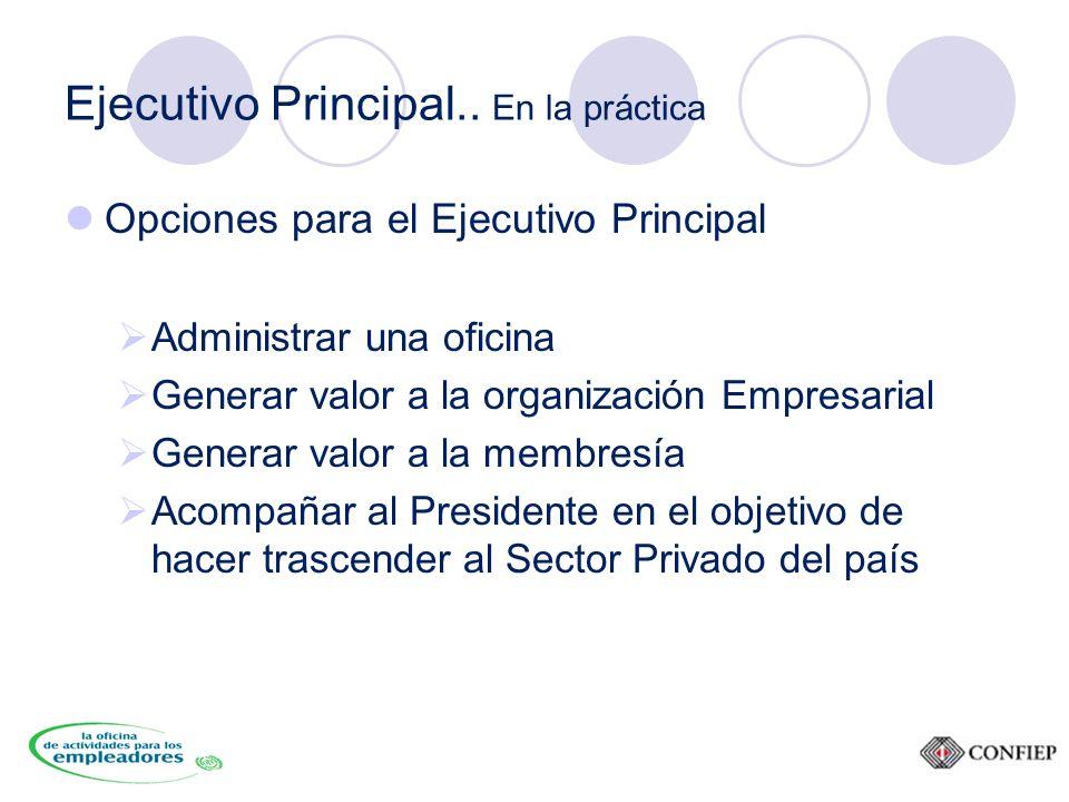 Ejecutivo Principal..