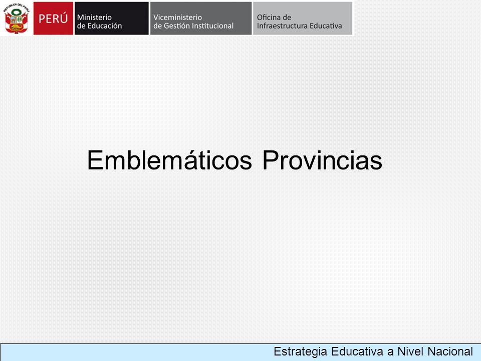 Emblemáticos Provincias Estrategia Educativa a Nivel Nacional