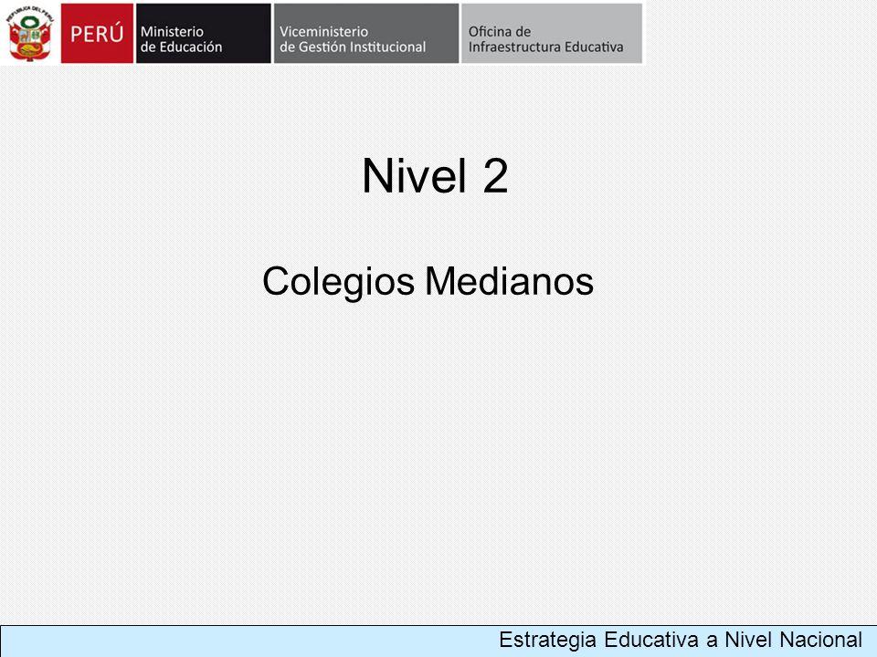 Nivel 2 Colegios Medianos Estrategia Educativa a Nivel Nacional
