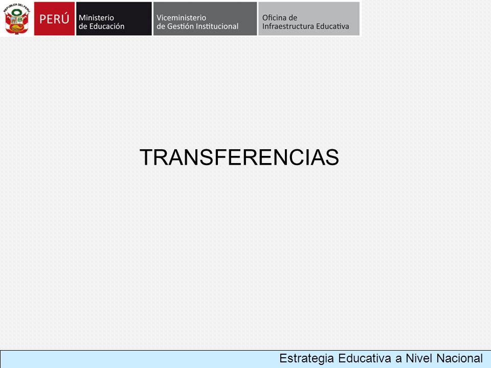 TRANSFERENCIAS Estrategia Educativa a Nivel Nacional