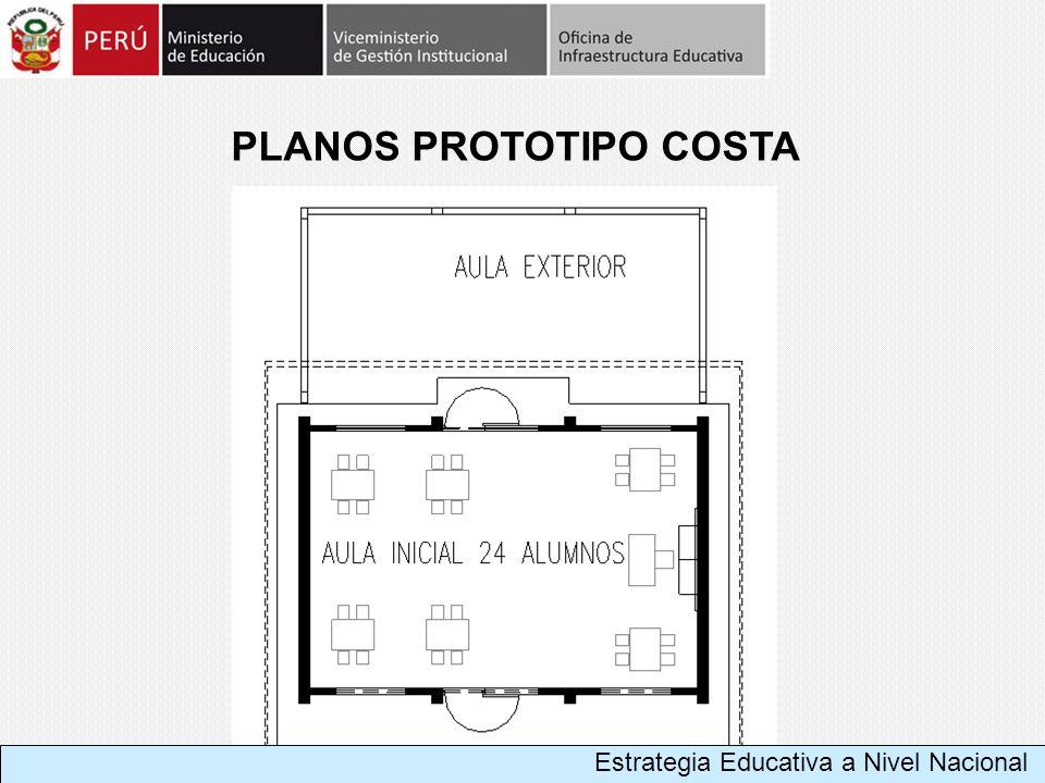 PLANOS PROTOTIPO COSTA Estrategia Educativa a Nivel Nacional