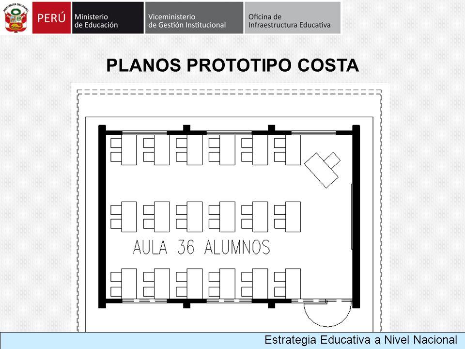 Estrategia Educativa a Nivel Nacional PLANOS PROTOTIPO COSTA