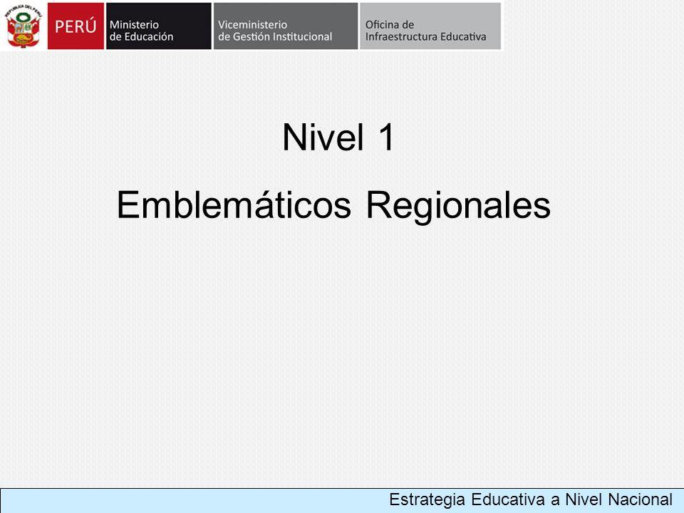Emblemáticos Regionales Nivel 1 Estrategia Educativa a Nivel Nacional