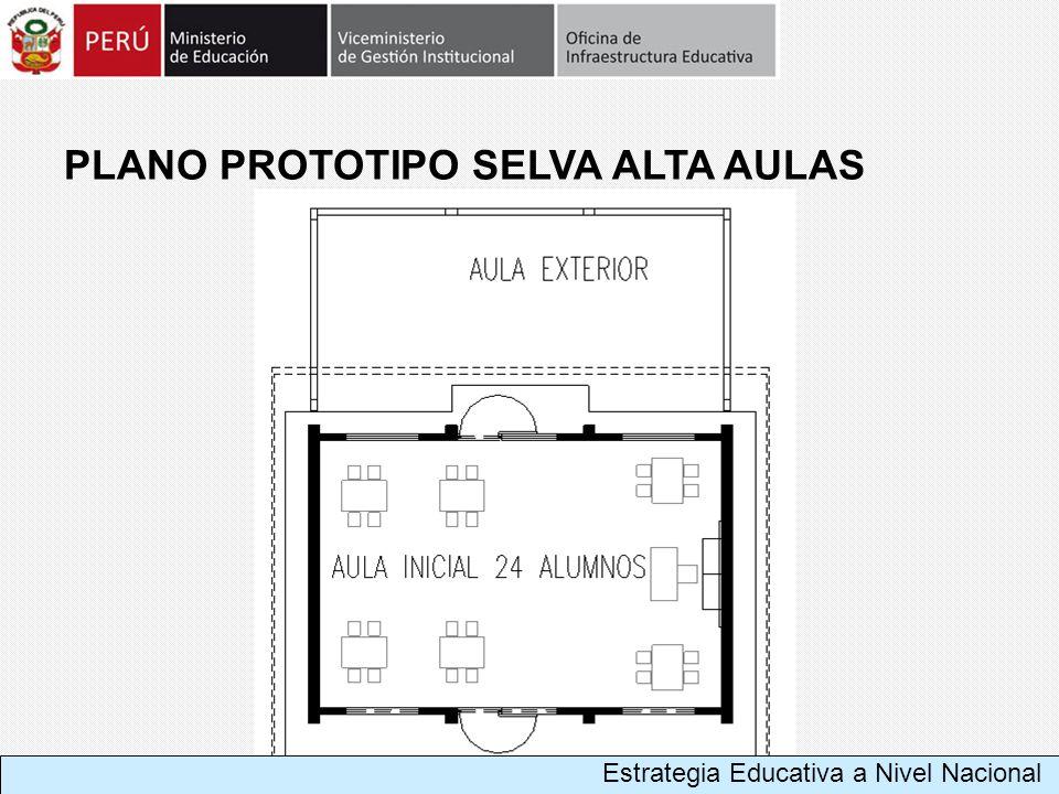 Estrategia Educativa a Nivel Nacional PLANO PROTOTIPO SELVA ALTA AULAS