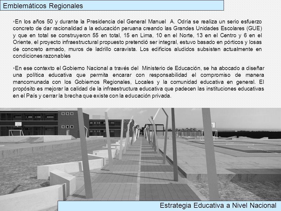 En los años 50 y durante la Presidencia del General Manuel A. Odría se realiza un serio esfuerzo concreto de dar racionalidad a la educación peruana c