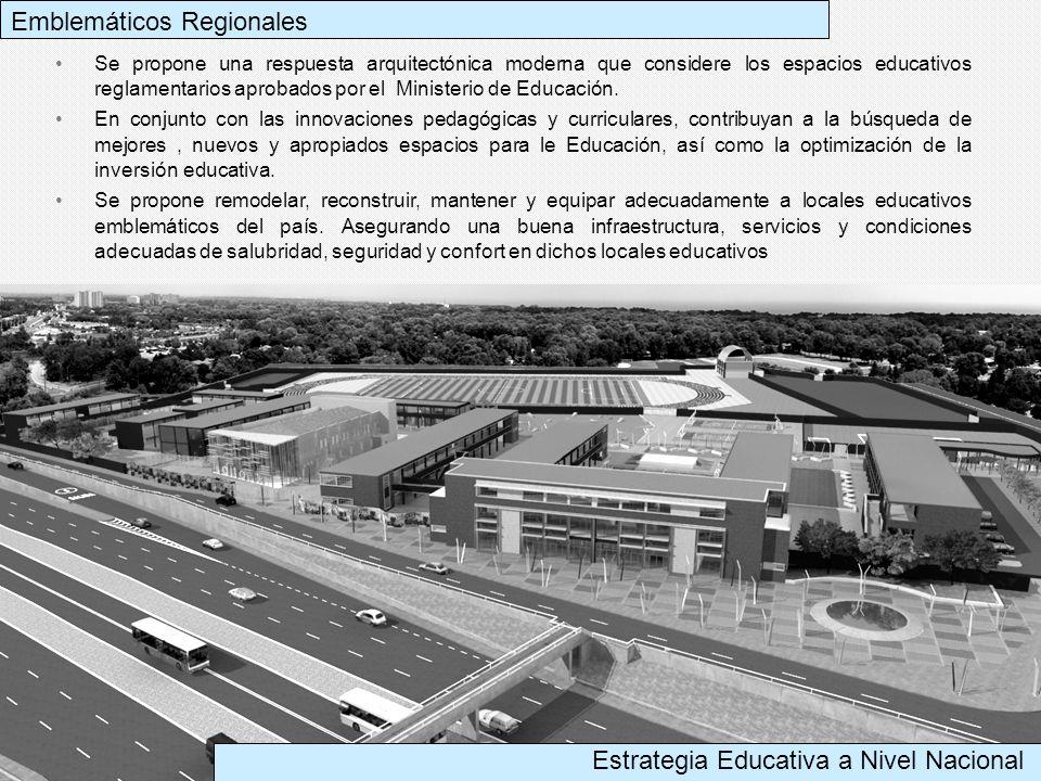 Se propone una respuesta arquitectónica moderna que considere los espacios educativos reglamentarios aprobados por el Ministerio de Educación. En conj