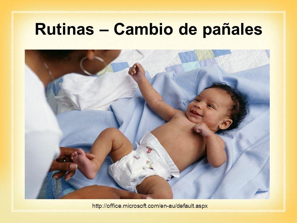 Rutinas – Cambio de pañales http://office.microsoft.com/en-au/default.aspx
