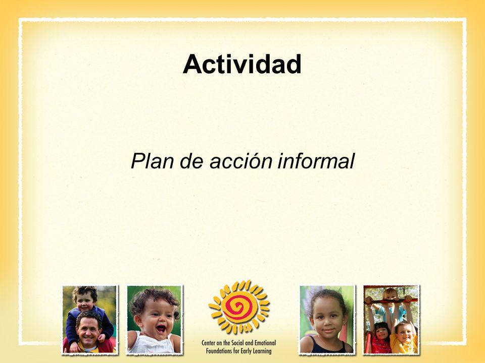 Actividad Plan de acción informal