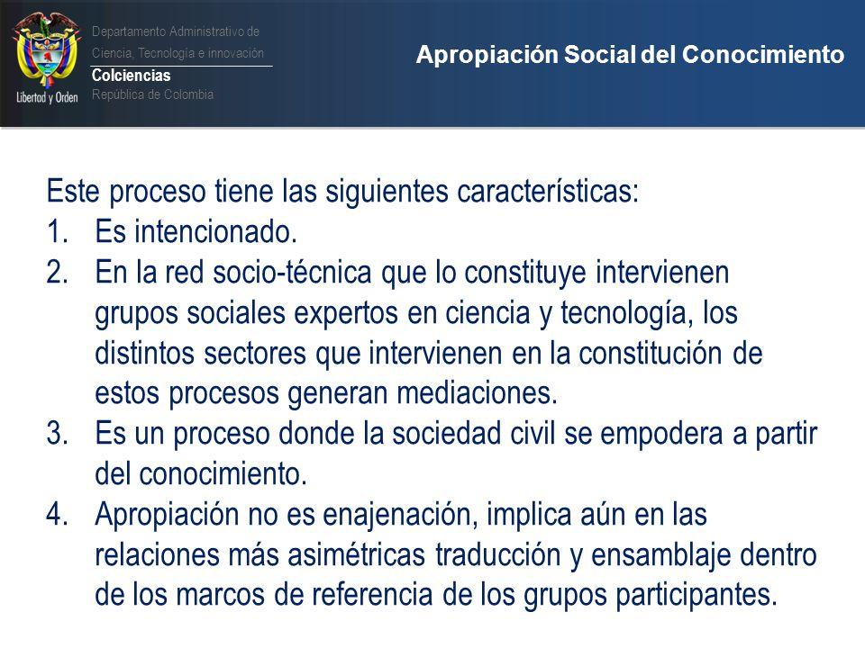 Departamento Administrativo de Ciencia, Tecnología e innovación Colciencias República de Colombia Imperativos Democratización Participación Formación ciudadana Innovación social Desarrollo sostenible Public Engagement Responsabilidad social Comunicación