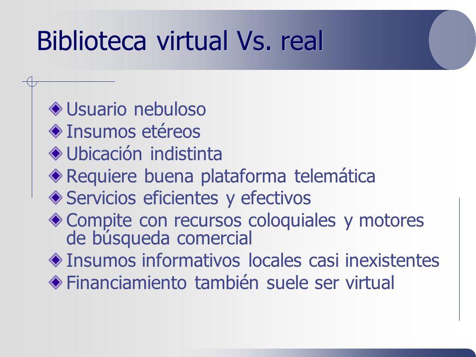 Biblioteca virtual Vs.