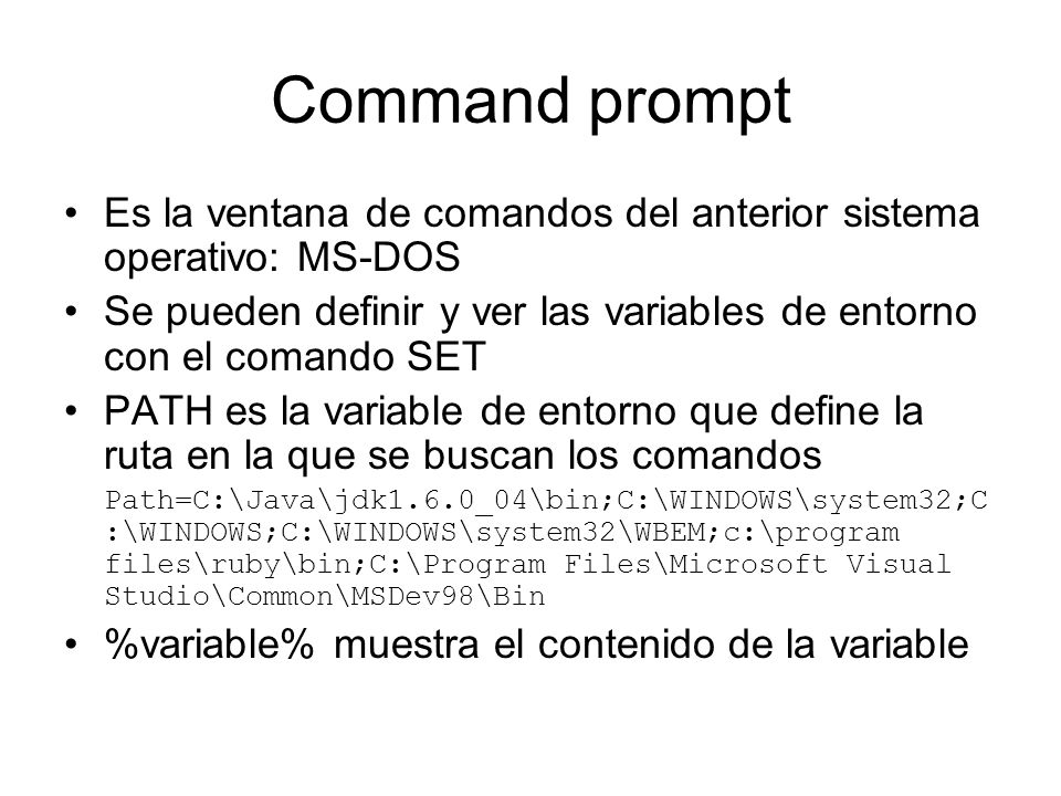 Variables Variables de tipos primitivos Variables de referencia –Arrays –Objetos Variables miembros –Static –de objetos Variables locales –de un método – o de un bloque {}