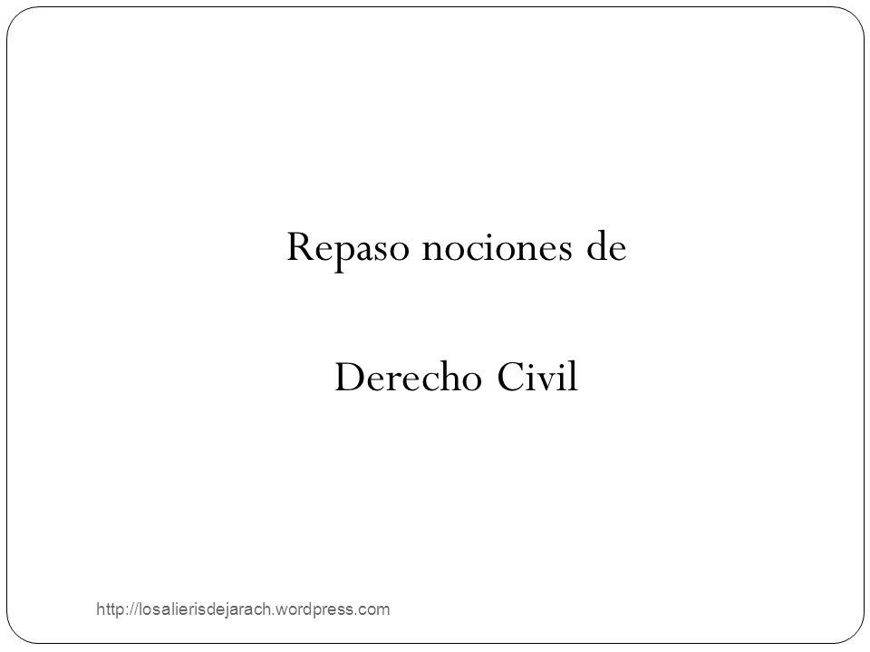 http://losalierisdejarach.wordpress.com Repaso nociones de Derecho Civil