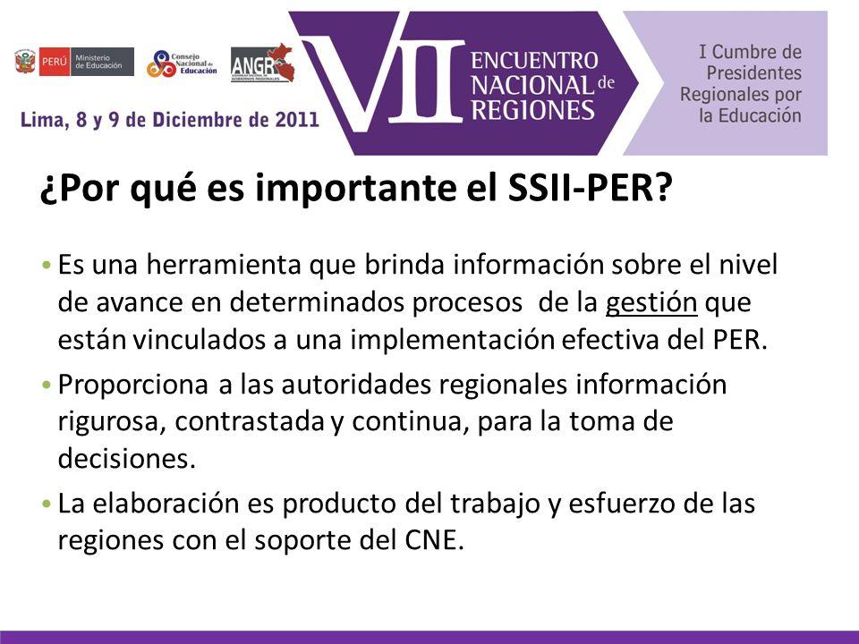 ¿Por qué es importante el SSII-PER.