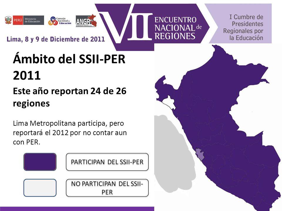 Resultados del SSII-PER 2011