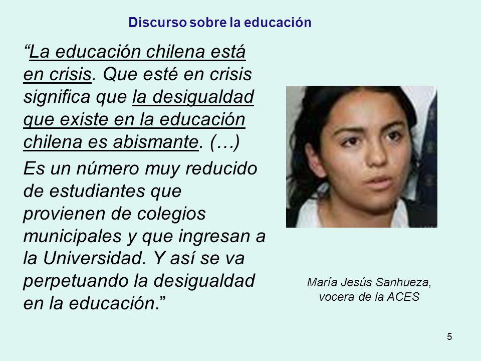 6 Lo que queremos es que ricos y pobres tengan igualdad frente a la educación.