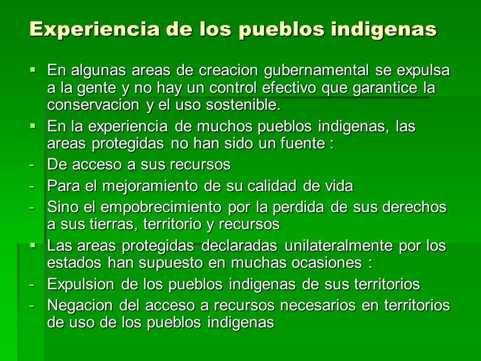 Hacer enfasis sobre los beneficios para los pueblos indigenas no implica que la conservacion de la biodiversidad se valore menos.