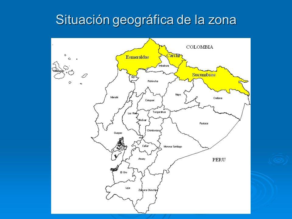 Situación geográfica de la zona