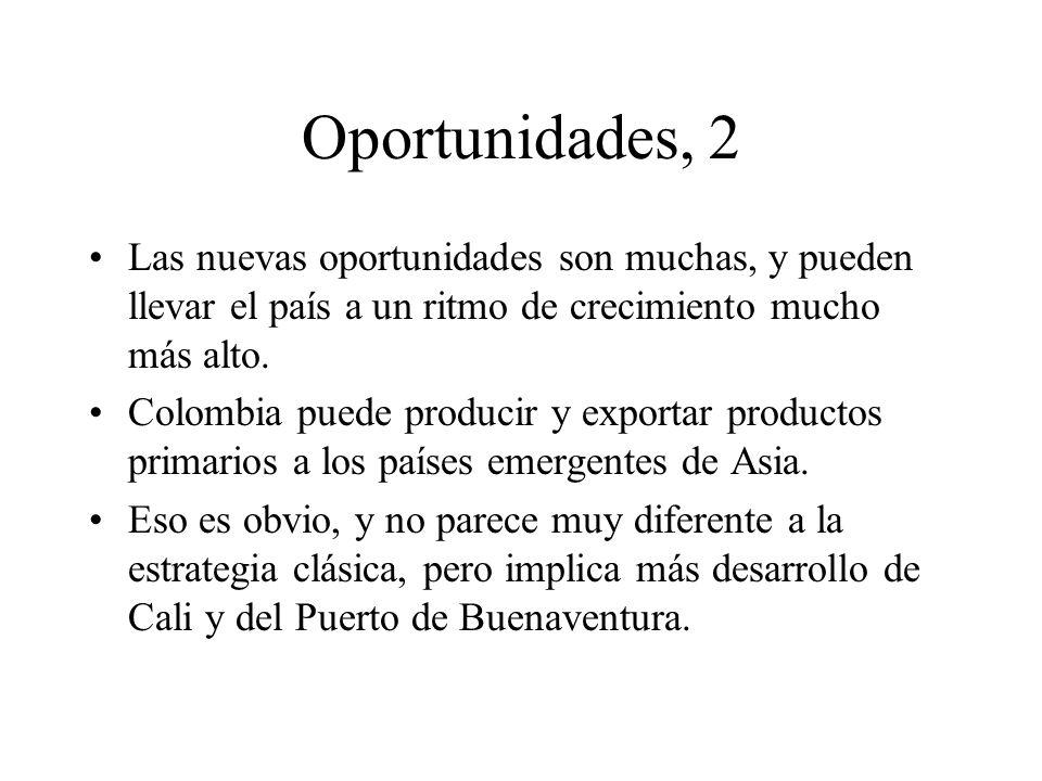 Oportunidades, 2 Las nuevas oportunidades son muchas, y pueden llevar el país a un ritmo de crecimiento mucho más alto.