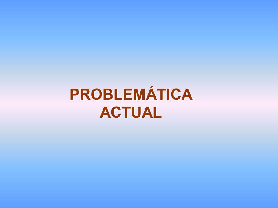 PROBLEMÁTICA ACTUAL PROBLEMÁTICA ACTUAL