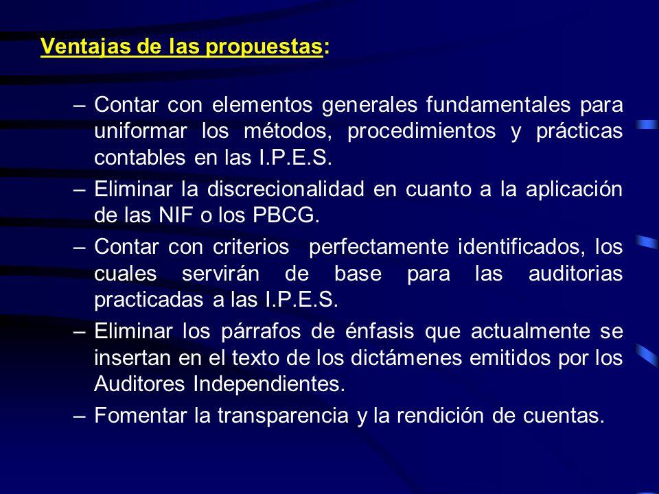 V.El proyecto consultado se presentaría ante el CUPIA, para su: –Aprobación, en su caso, y –Recomendación de incorporar los preceptos contables que la