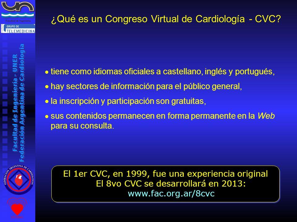 Facultad de Ingeniería - UNER Federación Argentina de Cardiología tiene como idiomas oficiales a castellano, inglés y portugués, hay sectores de infor