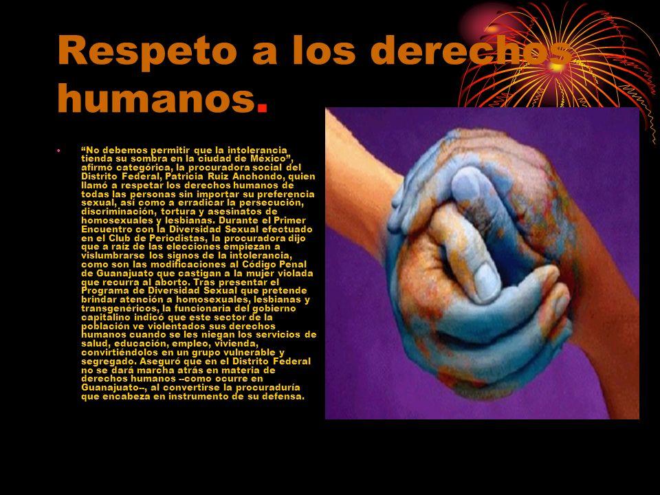 No debemos permitir que la intolerancia tienda su sombra en la ciudad de México, afirmó categórica, la procuradora social del Distrito Federal, Patric