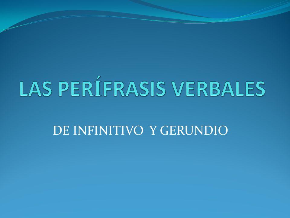 FORMAS NO PERSONALES DEL VERBO Infinitivo: Terminan en ar, er, ir Participio: Hay 2 tipos los regulares (ado, ido).